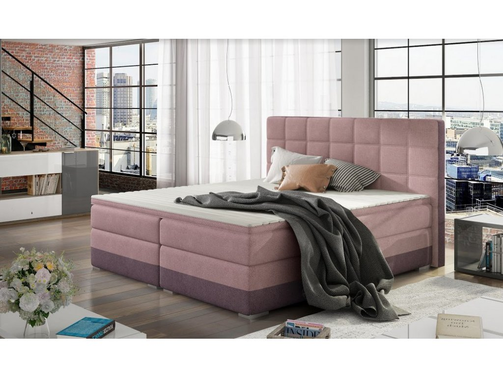 Manželská postel DAMASO BOXSPRINGS 180x200 (sorro 61/sorro 65)