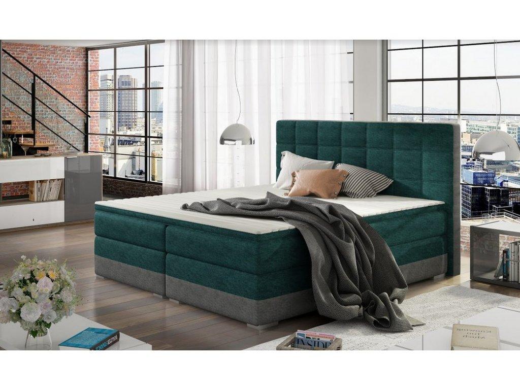 Manželská postel DAMASO BOXSPRINGS 180x200 (dora 85 + 90)