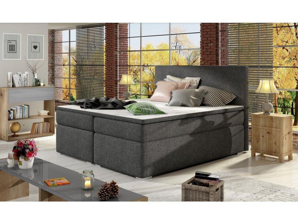 Manželská postel DOLCE BOXSPRINGS 180cm (sawana 05)