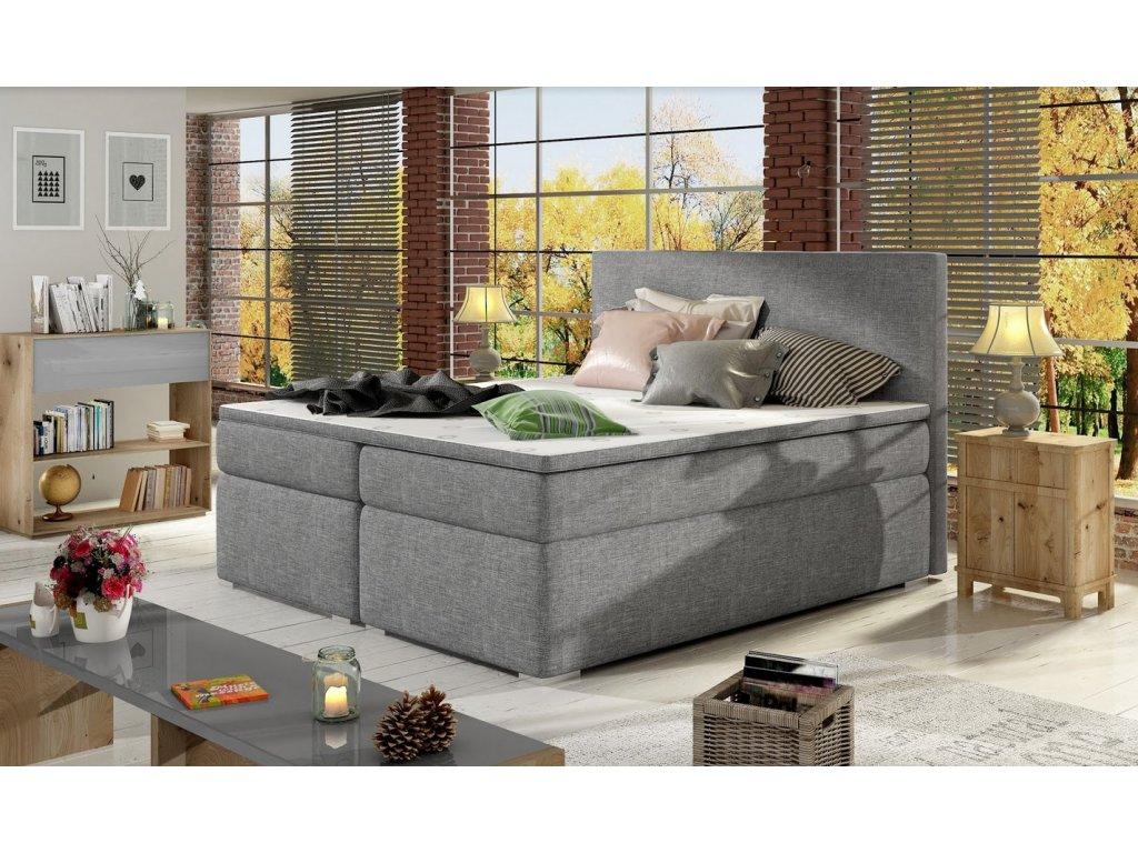 Manželská postel DOLCE BOXSPRINGS 180 cm  (sawana 21)