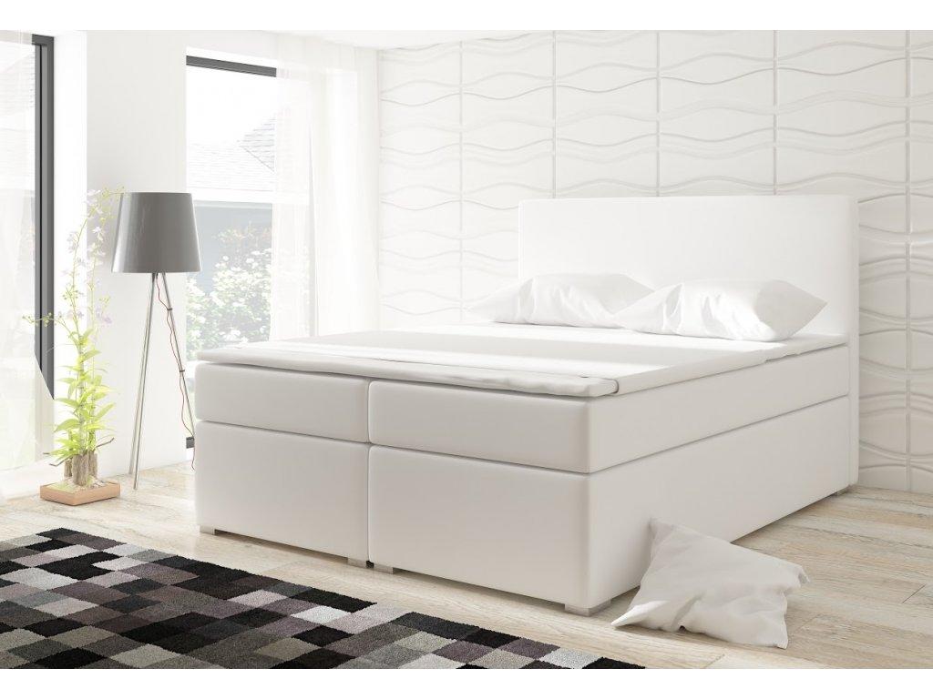 Manželská postel DOLCE BOXSPRINGS 180 cm (ekokůže soft 017)