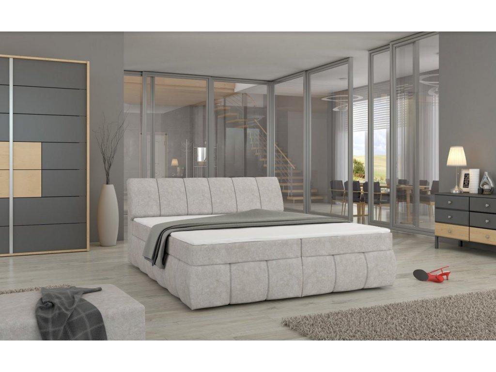 Manželská postel PAOLO BOXSPRINGS 160x200 (dora 21)