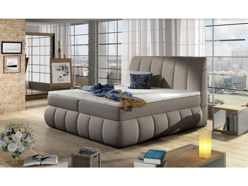 Manželská postel PAOLO BOXSPRINGS 180x200 (dora 22)