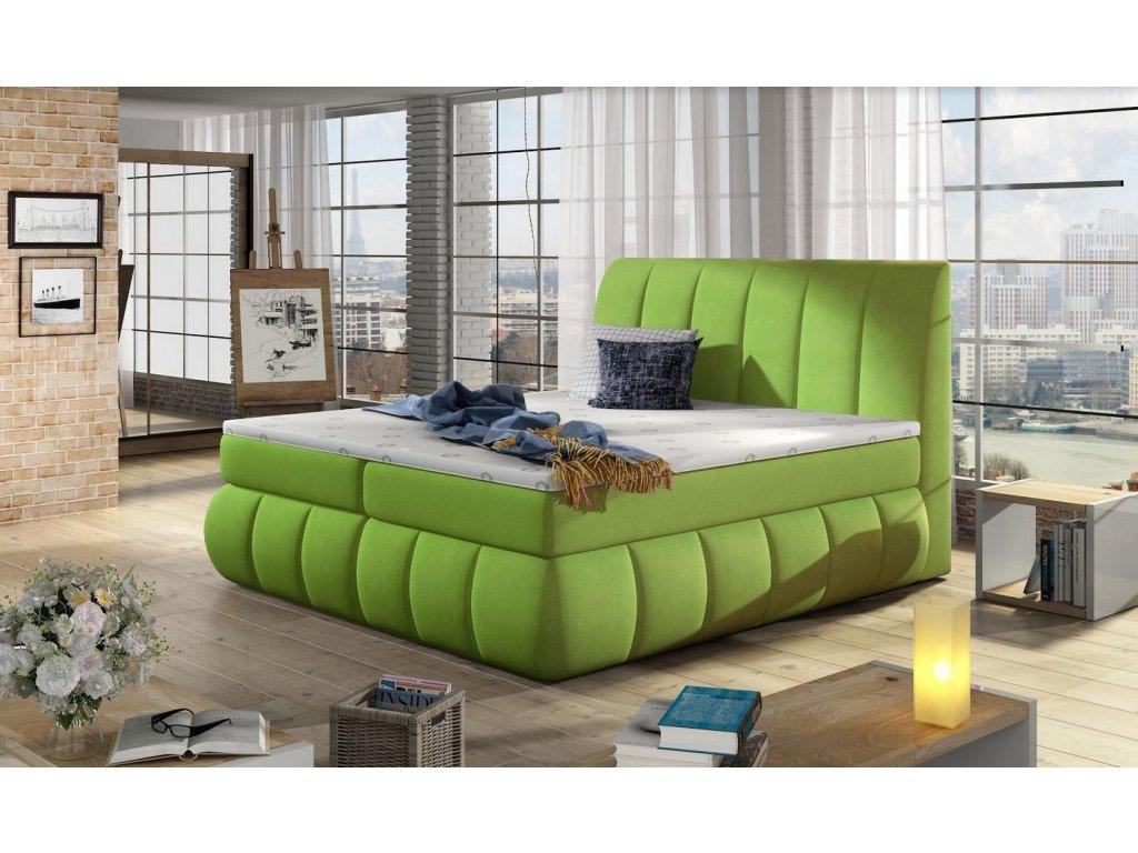 Manželská postel PAOLO BOXSPRINGS 160x200 (jasmine 35)