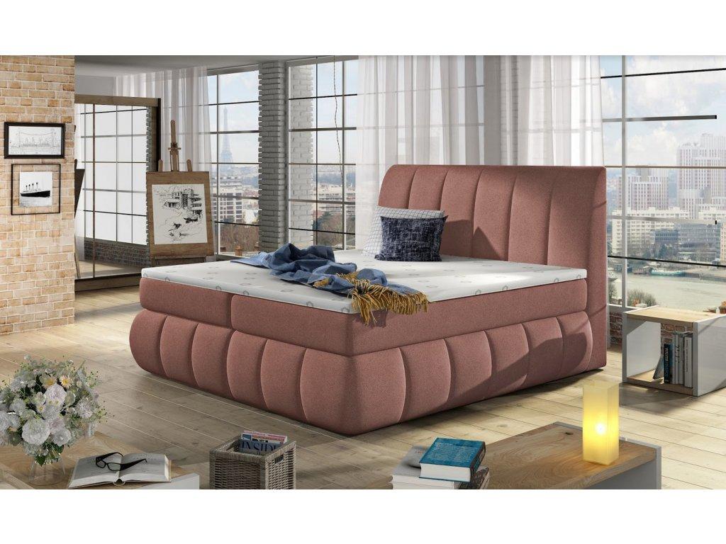 Manželská postel PAOLO BOXSPRINGS 160x200 (ontario 75)