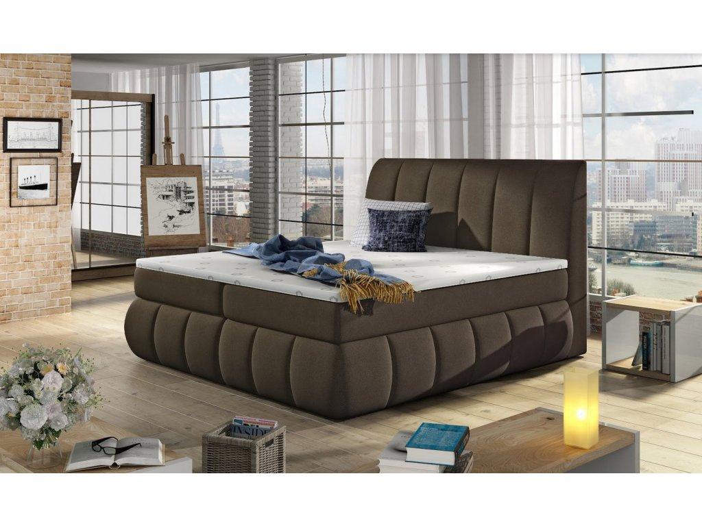 Manželská postel PAOLO BOXSPRINGS 180x200 (orinoco 29)