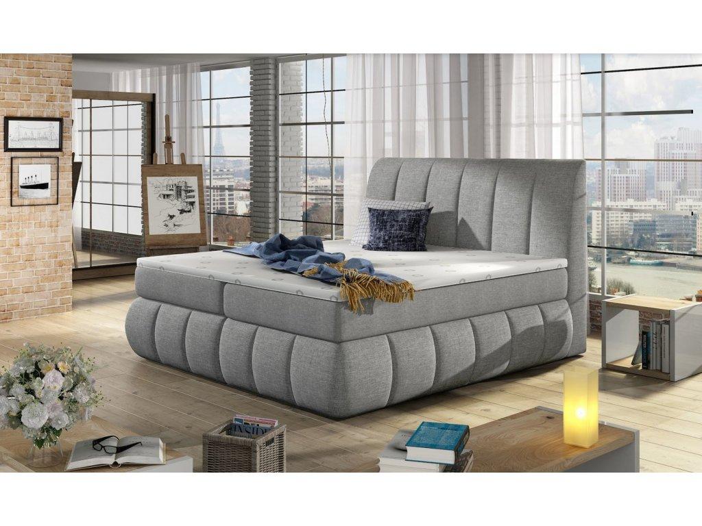 Manželská postel PAOLO BOXSPRINGS 160x200 (Sawana 21)