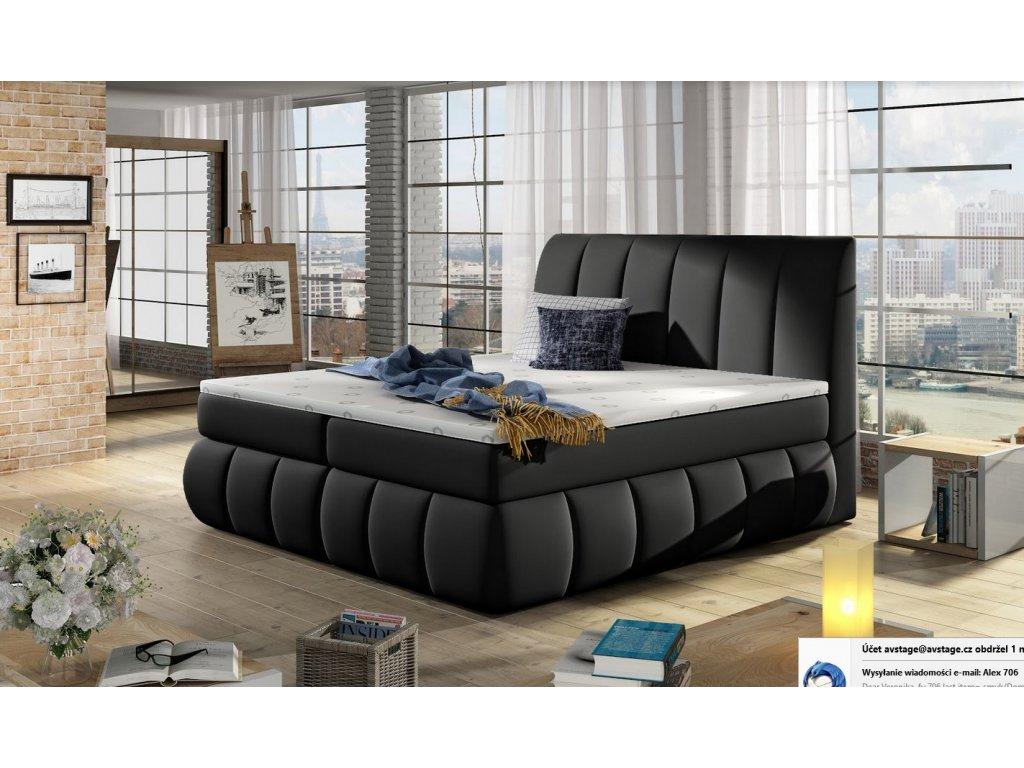 Manželská postel PAOLO BOXSPRINGS 180x200 (ekokůže Soft 11)