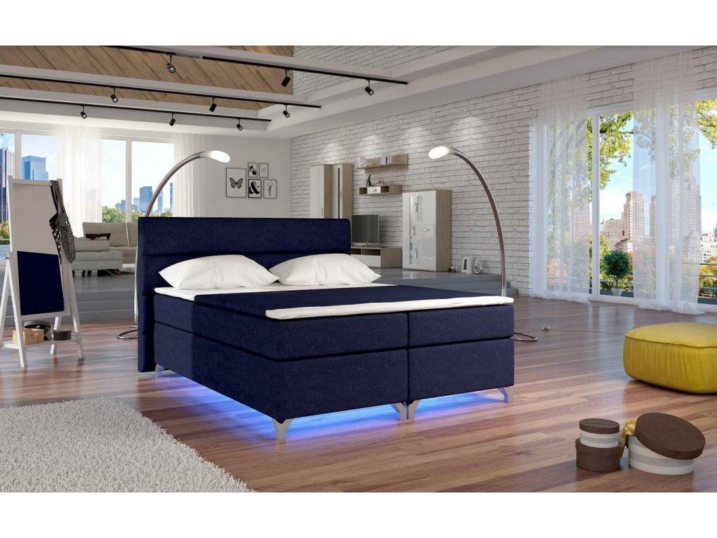 Manželská postel ALEX BOXSPRINGS 160x200 (Ontario 81)