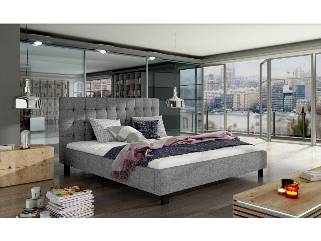 Manželská postel MAURO 160x200 (tkanina Sawana 21)