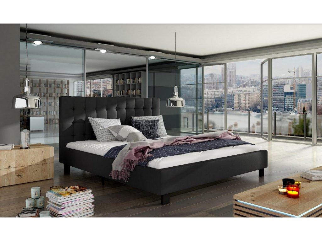 Manželská postel MAURO 160x200 (ekokůže Soft11)