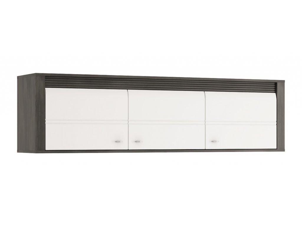 Závěsná skříňka SEVILLA 67 (Norská borovice/bílý lesk)