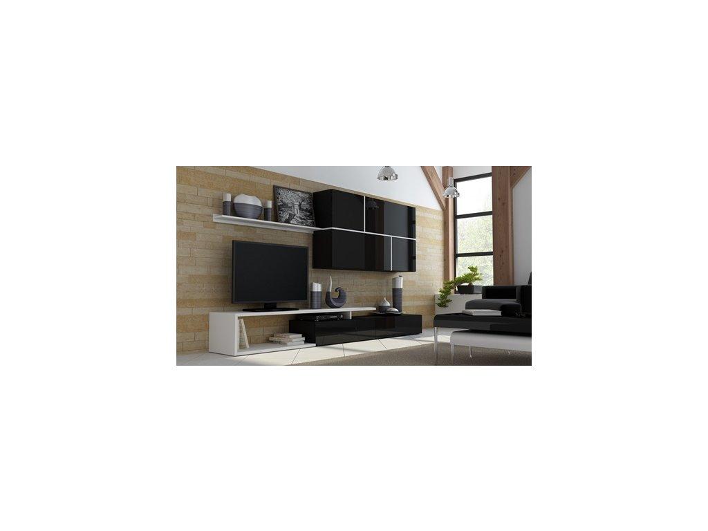 Obývací stěna GOYA černobílá