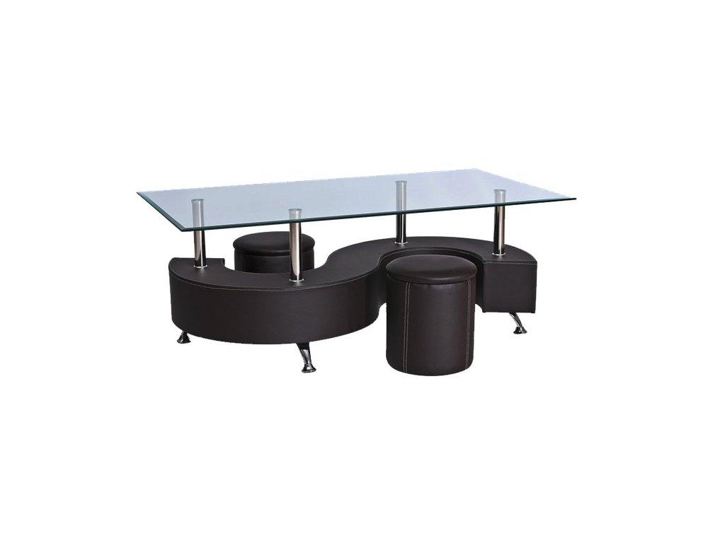Konferenční stolek HUGO hnědý