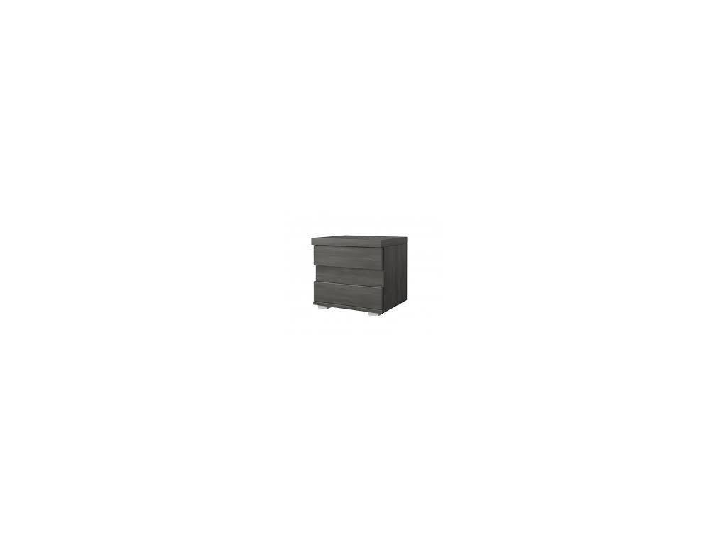 Noční stolek LATTE (norská borovice černá)