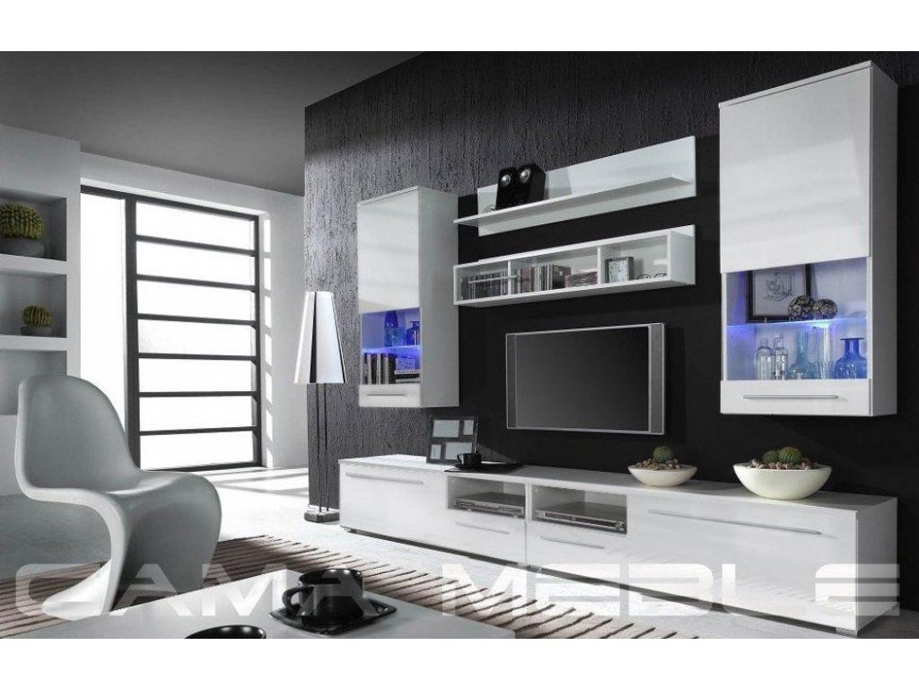Obývací stěna LUNA WHITE