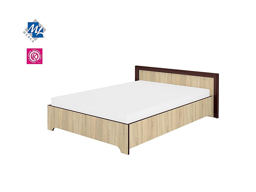 Manželská postel 140cm Oliwier 28 dub Sonoma světlý