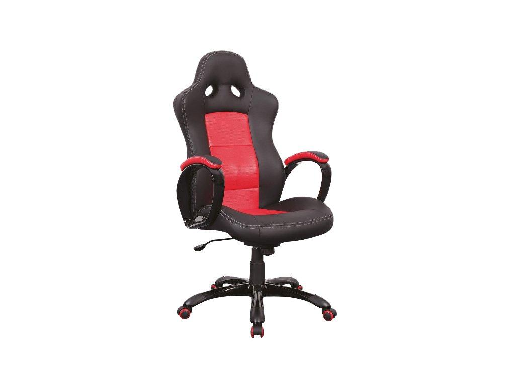Kancelářské křeslo Q-029 černočervené