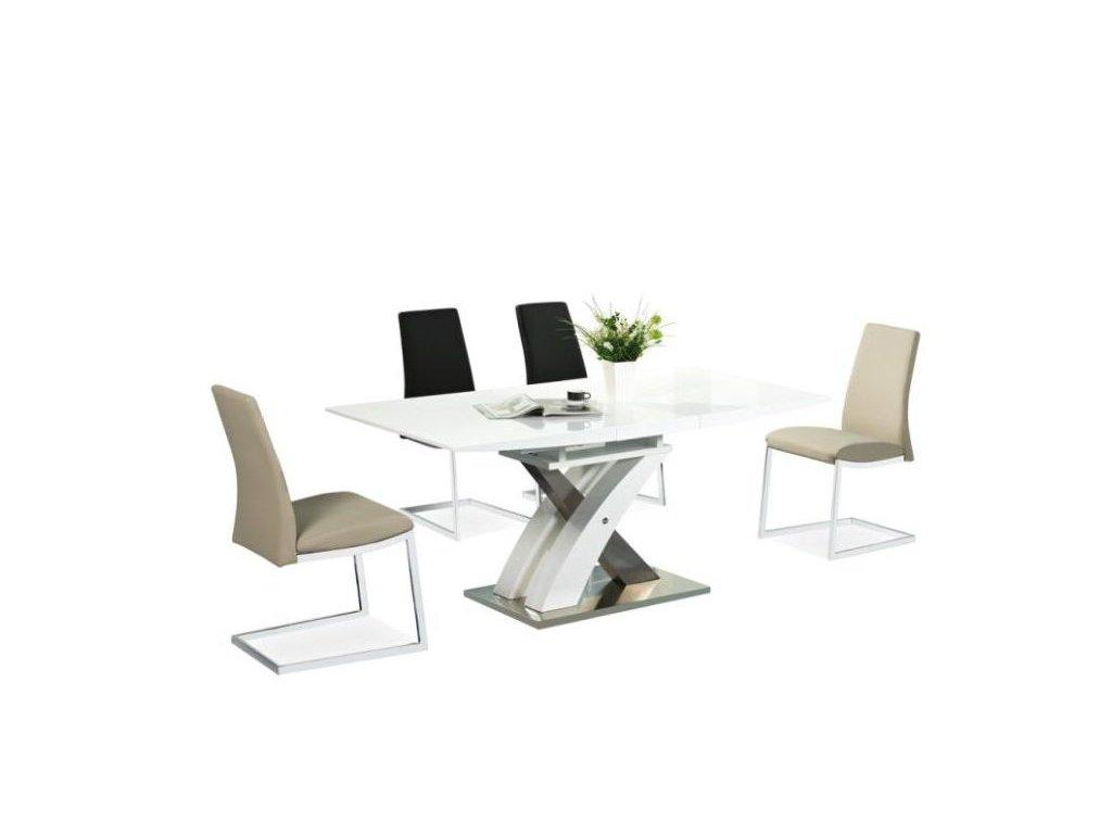 Rozkládací jídelní stůl RAUL - bílý