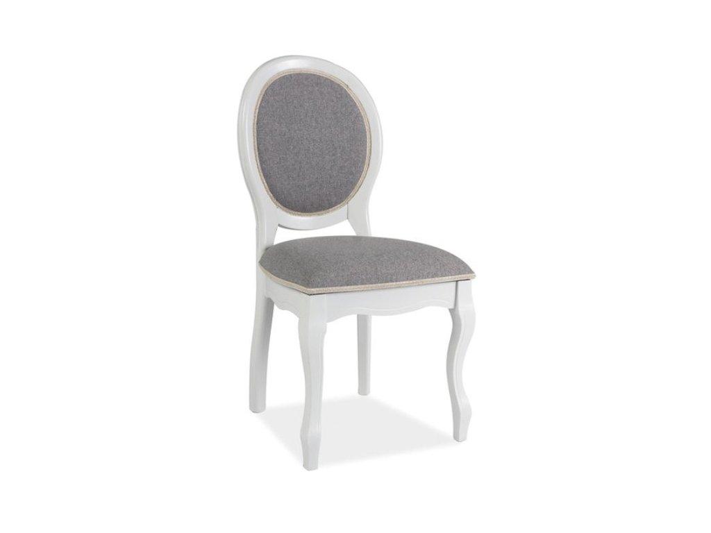 Dřevěná jídelní židle FN-SC (bílošedá)