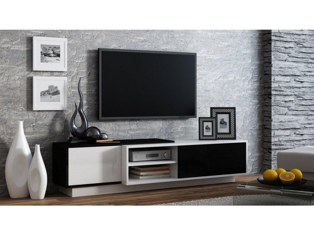 Televizní stolek SIGMA1 černobílá