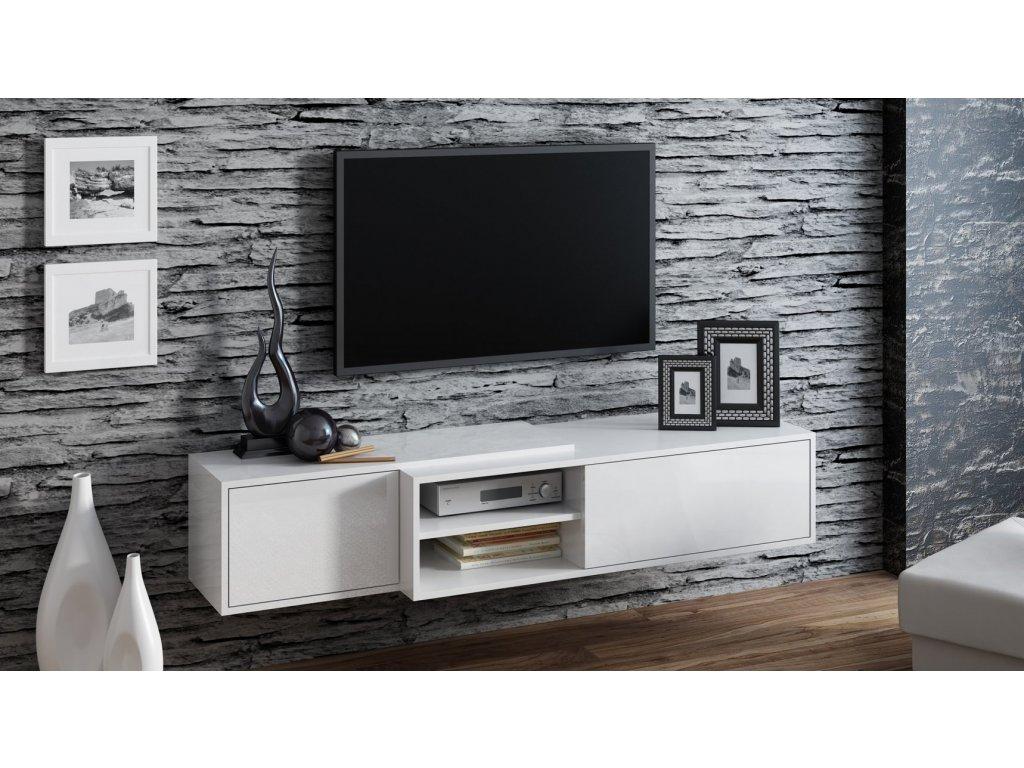 Závěsný televizní stolek SIGMA 1 WHITE