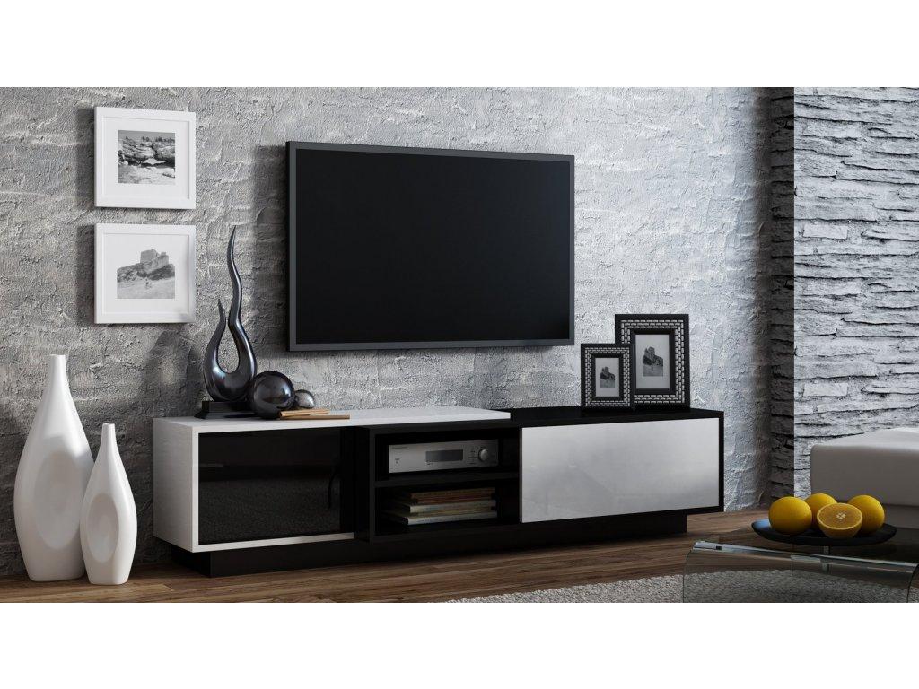 Televizní stolek SIGMA 1 bíločerná