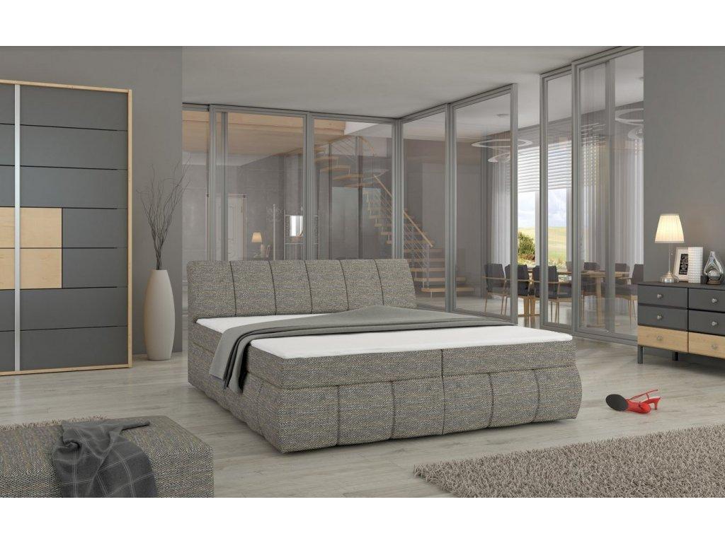 Manželská postel PAOLO BOXSPRINGS 160x200 (Berlin 01)
