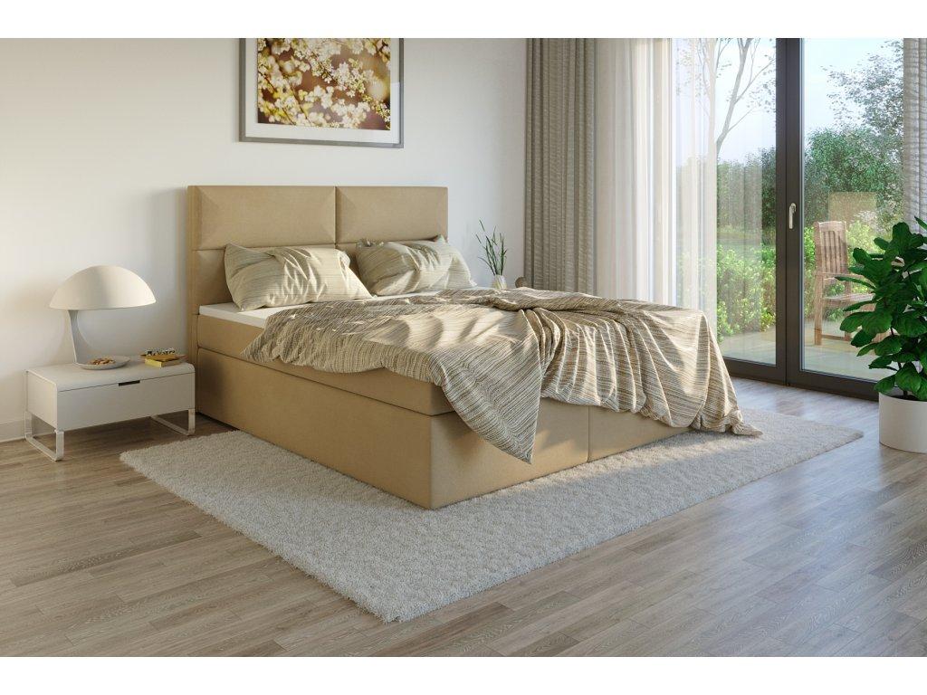 Čalouněná postel boxsprings potah Jasmine 45