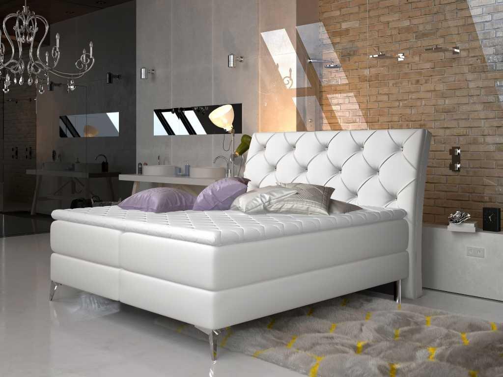 Čalouněná postel ADEL Boxsprings 140 x 200 cm (Provedení Soft 17)