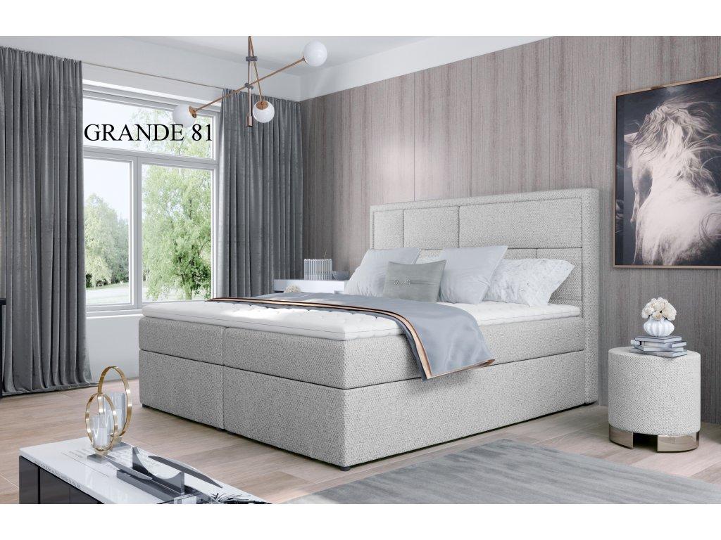 Čalouněná postel MERON, 140, 160, 180 x 200 cm, provedení Grande 81