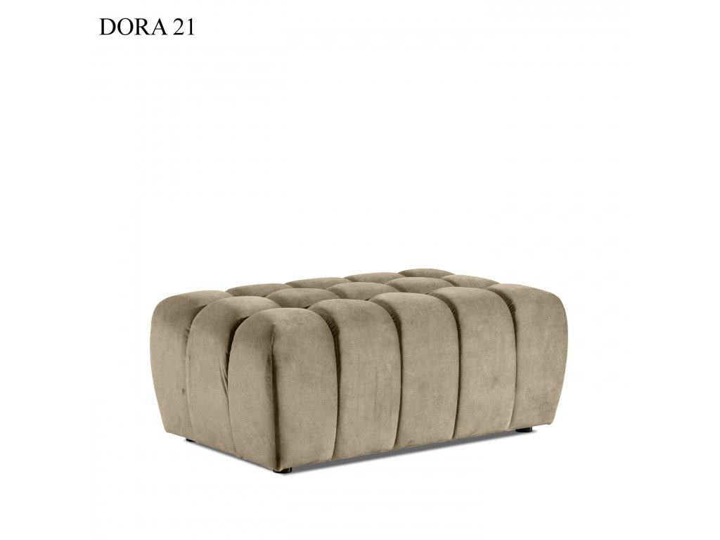 Čalouněný taburet LAZARO, provedení Dora 21