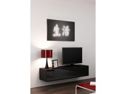 Televizní stolek VIGO 140, černý SKLADEM