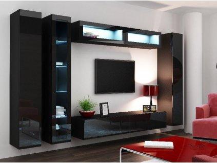 Obývací stěna VIGO 6, černá