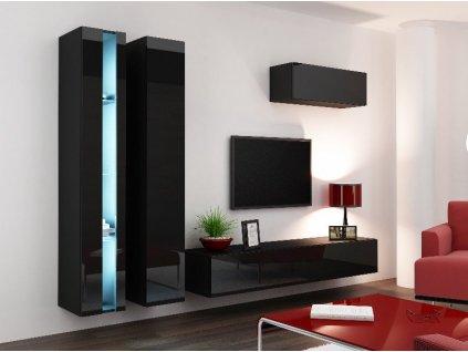 Obývací stěna VIGO NEW 1, černá