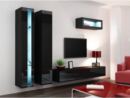 Obývací stěna VIGO NEW 2, černá