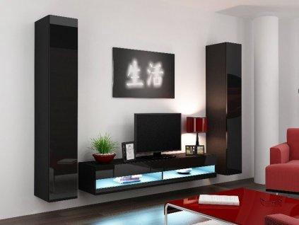 Obývací stěna VIGO NEW 4, černá