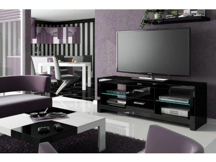 Televizní stolek ANDORA, černý