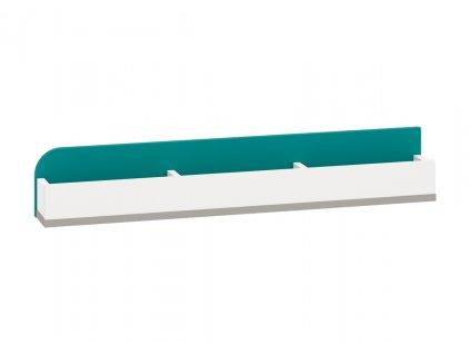 Polička IQ 14, modro/zelená SKLADEM 1 KS