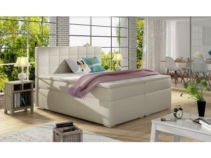 Manželská postel AMANDA BOXSPRINGS 160x200 (ekokůže soft033)