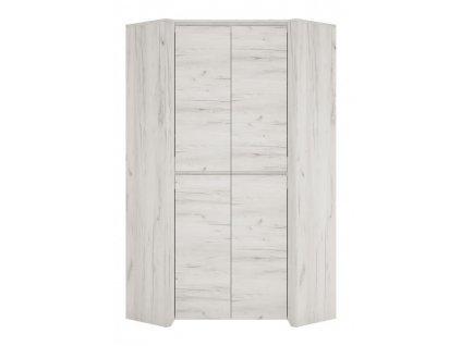 Rohová šatní skříň Angel 21 (dub bílý)