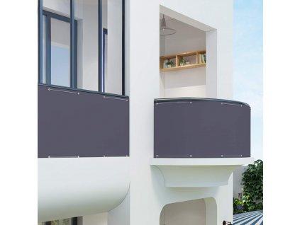 Šedá balkonová zástěna 90x600 cm