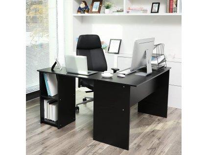 Psací stůl rohový černý