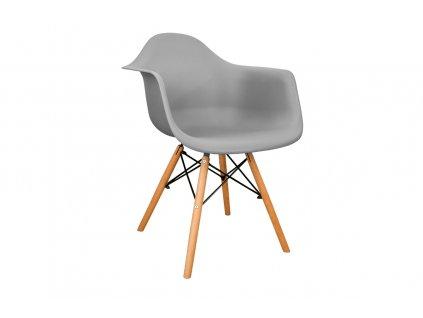 Židle NEREA, šedá 01