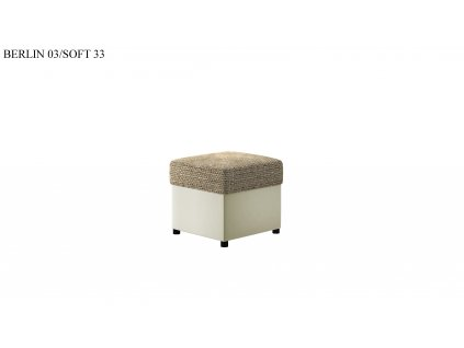 Čalouněný taburet R3, provedení Berlin03Soft33