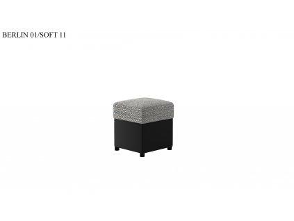 Čalouněný taburet R1, provedení Berlin01Soft11