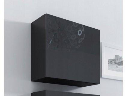 Kvadrát skříňka VIGO plná 50 závěsná černá