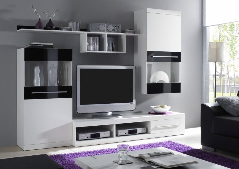 Cama Obývací stěna NICK Barva: bílá mat/černá