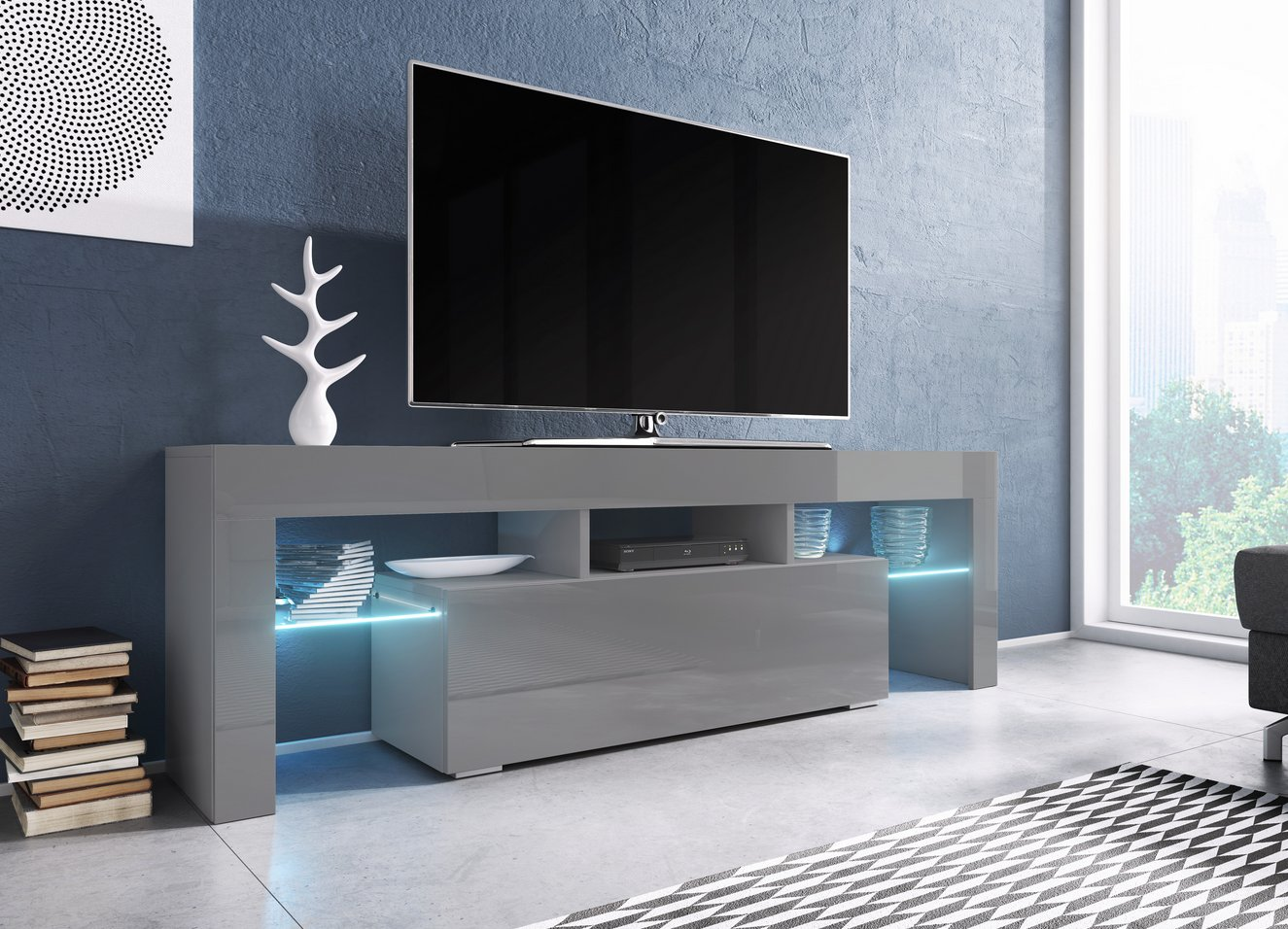 Cama TV stolek TORO 138 Barva: šedá