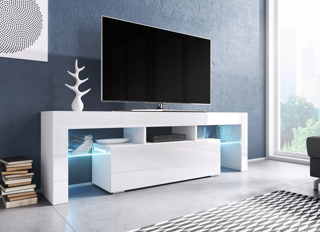 Cama TV stolek TORO 138 Barva: bílá